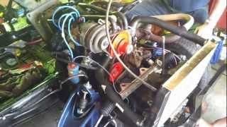 1er redémarrage de notre moteur C1E de notre 4L Trophy