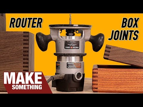 How to Make Box Joints with Only a Router | Woodworking Jig