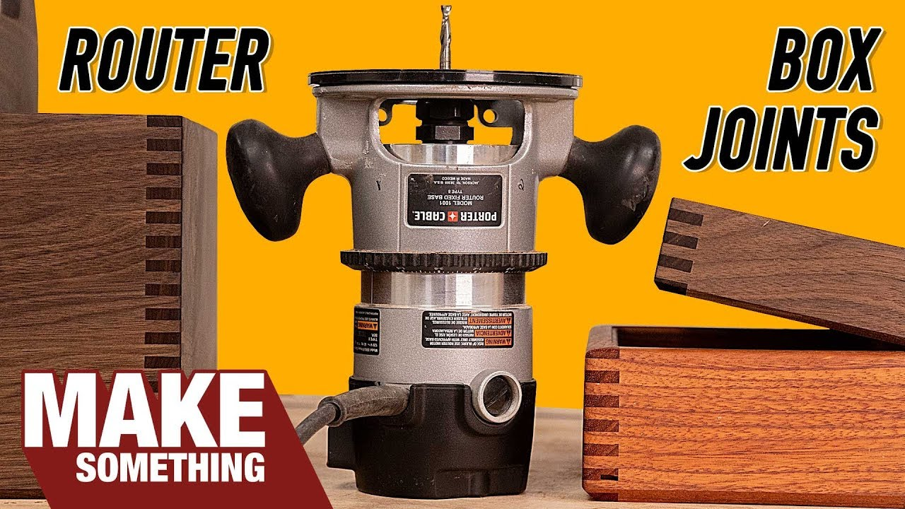 How To Make Box Joints With Only A Router Woodworking Jig