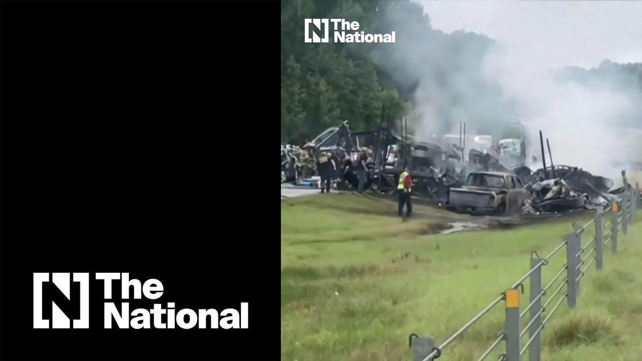 Download Alabama 18-vehicle highway crash kills 10 people