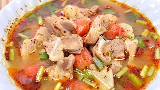 Hot and Spicy Soup with Pork Ribs (Thai Food) – Tom Zap Moo ต้มแซ่บหมู