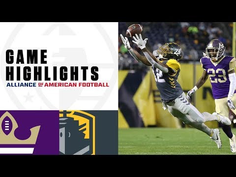 Atlanta Legends vs. San Diego Fleet   AAF Week 2 Game Highlights