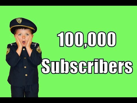 100 000  Subscribers + BLOOPERS real life Kid Cops, Superheroes and jail  funny video