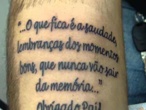 Tattoo Homenagem Youtube