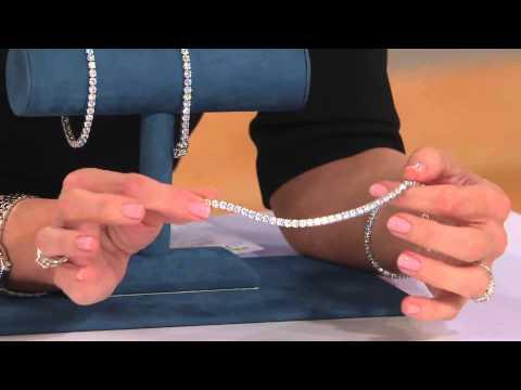 Diamonique Simulated Diamond Tennis Bracelet by Epiphany with Jennifer Coffey