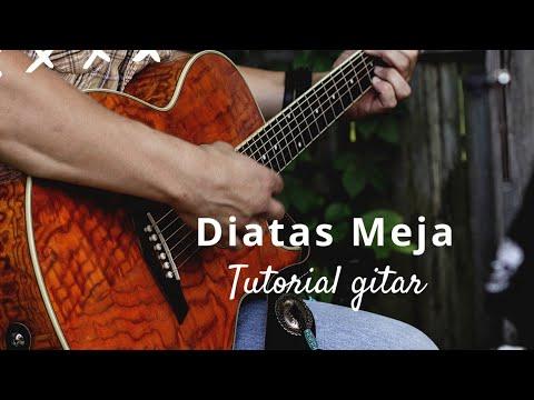 Di Atas Meja - Payung Teduh (tutorial guitar cover) Album Ruang Tunggu