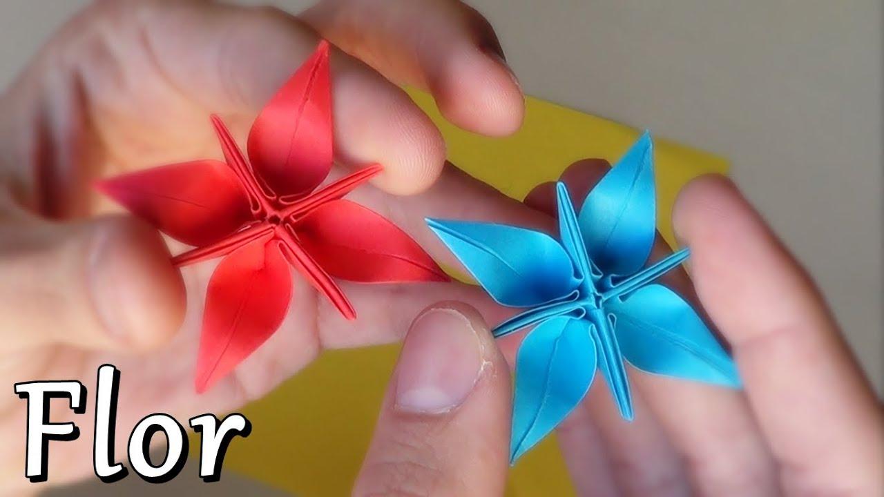 Flor estrella fant stica de papel origami youtube - Estrellas de papel ...