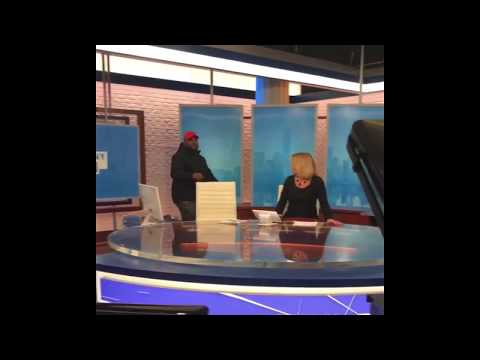 QUEENZFLIP TAKES OVER NY1 NEWS & SHOUTS OUT URL