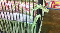 Custom Pink & Lime Paisley Crib Bedding from Pippin McGee