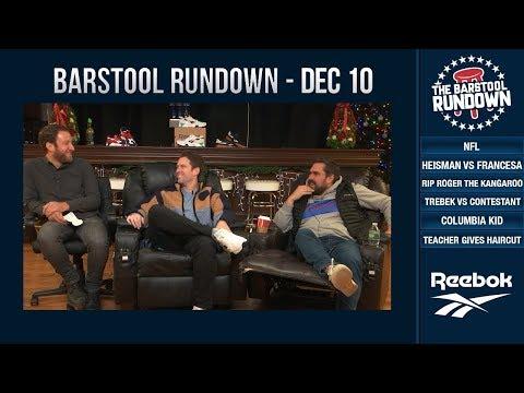 Barstool Rundown - December 10, 2018
