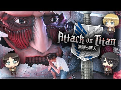 Colossal Titan DESTROYS Tokyo Skytree!? (Attack On Titan Event + Cafe!)