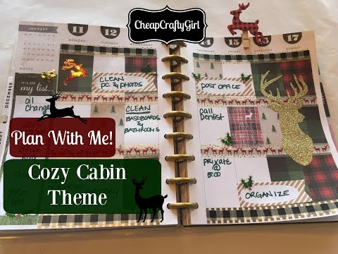 Plan With Me! The Happy Planner | Cozy Cabin Theme + DIY INSERTS