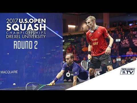 Squash: Men's Rd 2 Roundup Pt. 1 - U.S. Open 2017