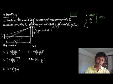 ติวฟิสิกส์ แสงเชิงฟิสิกส์ (สลิตคู่ สลิตเดี่ยว)