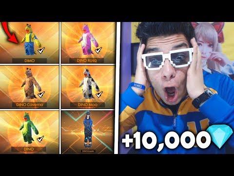 ¡CONSIGO ABSOLUTAMENTE TODOS los DINOS en FREE FIRE de LA MANERA MÁS ÉPICA! *+10,000 diamantes*