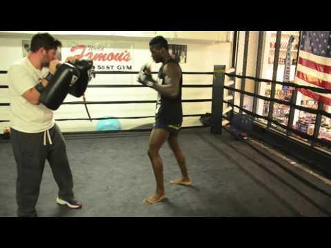 Dutch Muay Thai Fighter Fernando Groenhart Training at 5th St Gym in Miami FL Skillz Brand