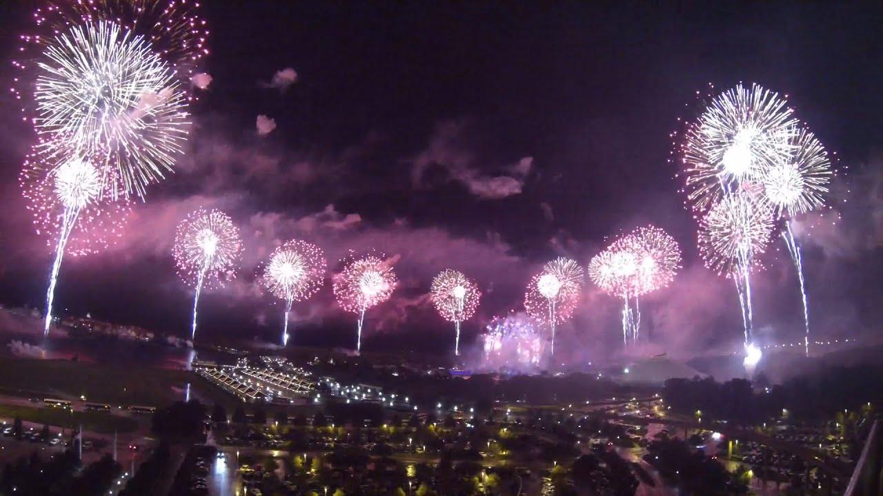 FULL 2015 Magic Kingdom 4th Of July 360 Degree Fireworks Show At Disney World