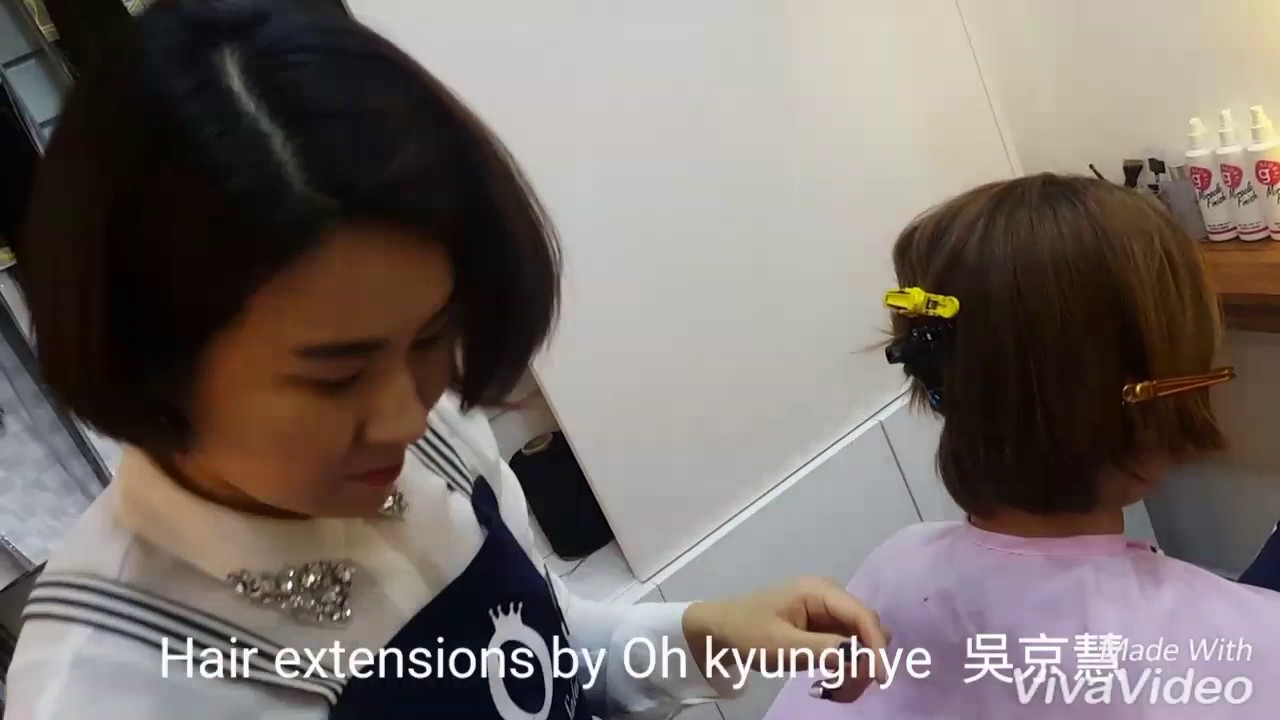 Hair Extensions Braiding Korean Technique Youtube