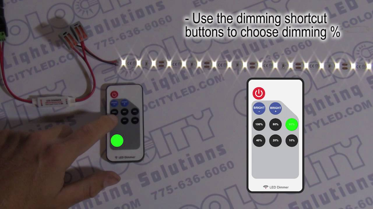 Mini Led Dimmer With Rf Remote For 5
