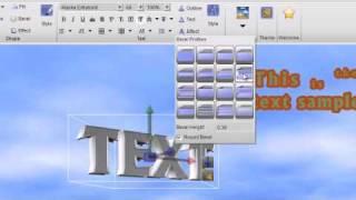 Presentation3D, Create a 3D text