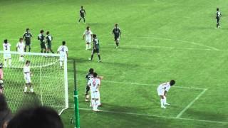 2011JFL後期第4節松本山雅FC VS HONDA FC戦の松田直樹選手のパフォーマ...