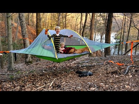 Hammock Tent Camping WIN Or FAIL??? - Tensile Stingray 3 Person Tent Review