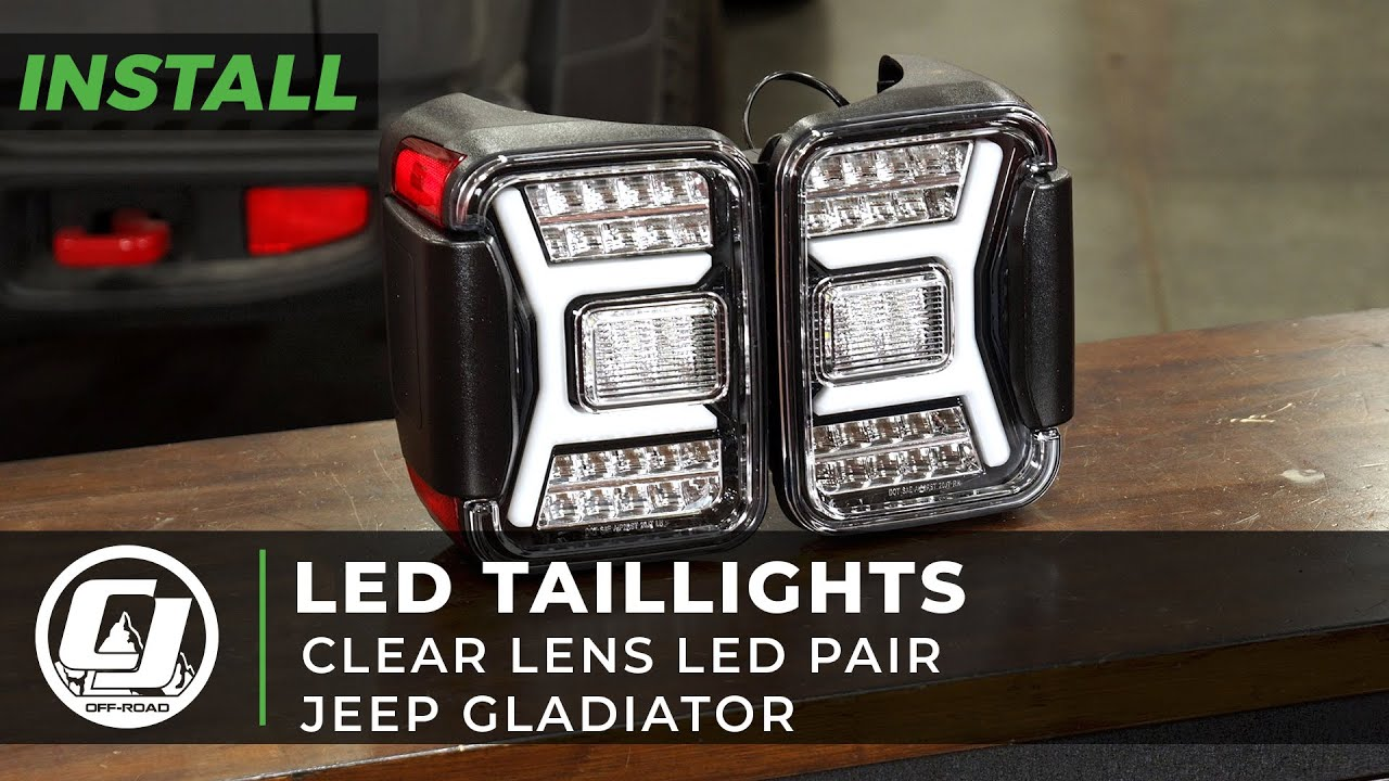 2020-2021 Jeep Gladiator Install | Clear Lens Taillight Assembly