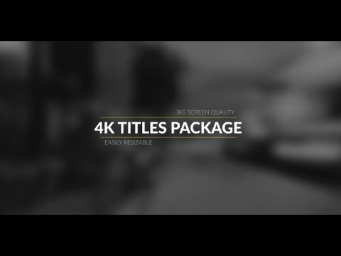 After Effects Template K Broadcast Titles Package YouTube - Awesome slideshow after effects scheme