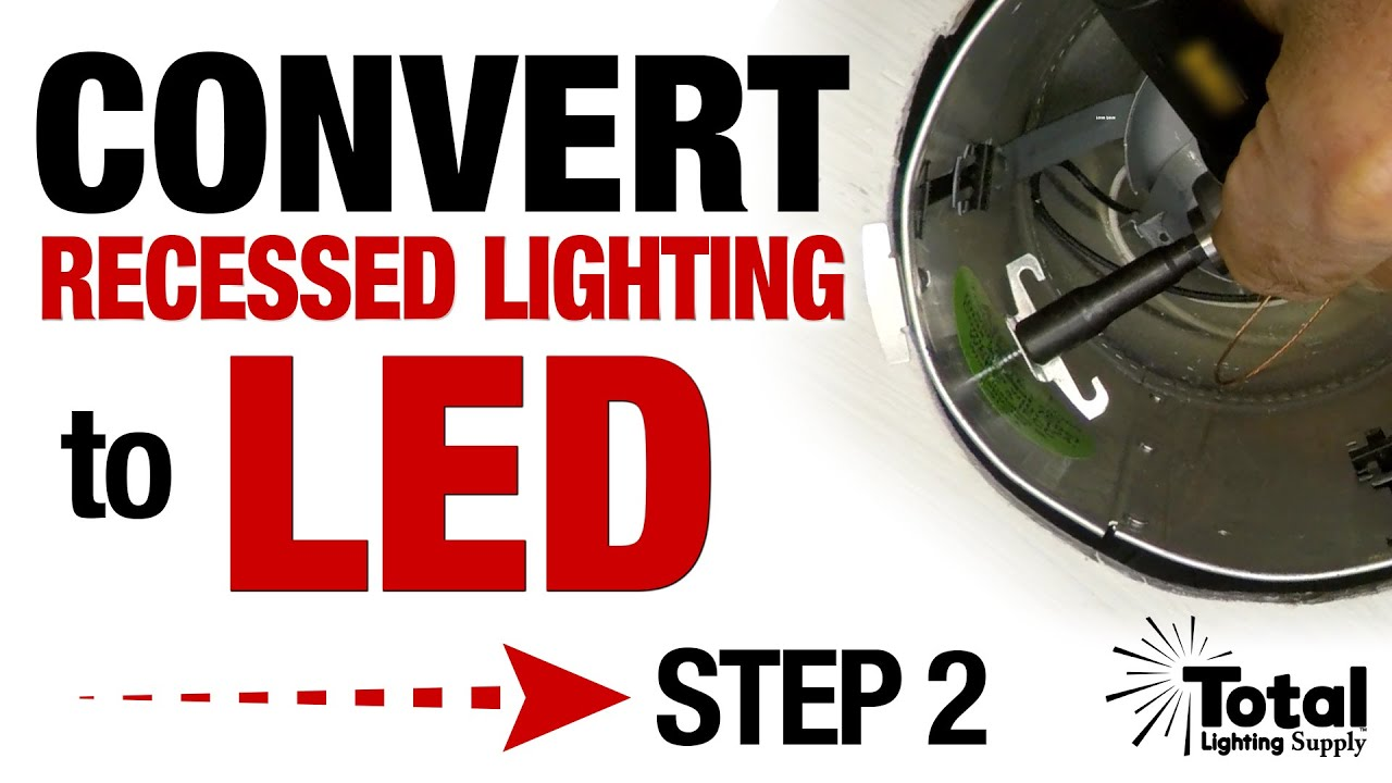 convert my recessed lighting downlight with led trims step 2 installing torsion spring c clips