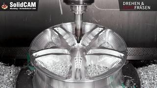 SolidCAM Bearbeitungsvideo Felge