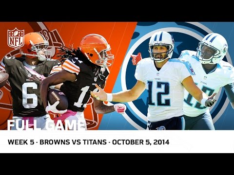 Browns Complete Largest Road Comeback in NFL History vs. Titans (Week 5, 2014 FULL GAME) | NFL