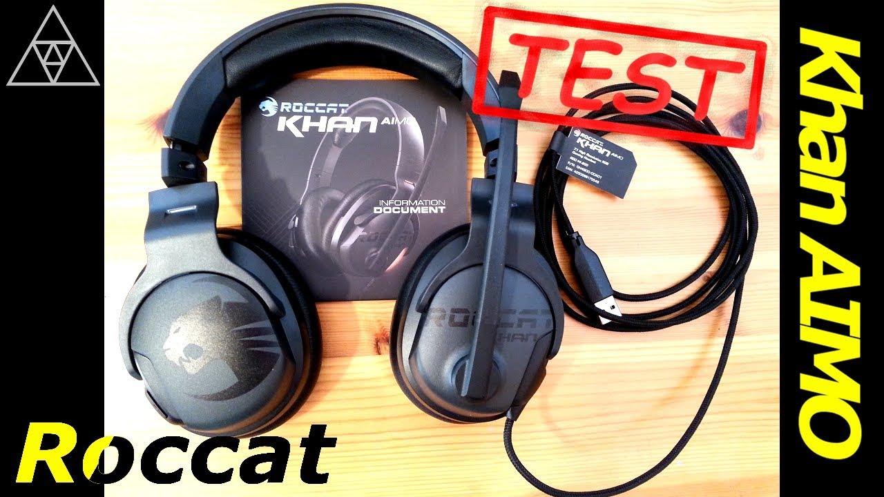 Roccat Khan AIMO 7.1 Gaming Headset im Test ▻ Surround Sound aus