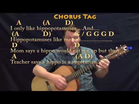 I Want A Hippopotamus for Christmas - Strum Guitar Cover Lesson in G with Chords/Lyrics