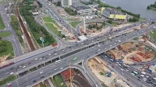 Митино и пересечение Волоколамского шоссе с МКАД