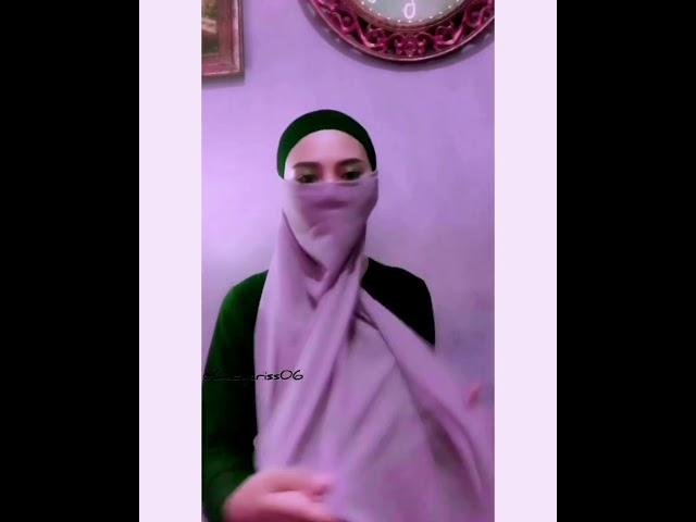 Tutorial Hijab Pashmina Untuk Cadar Ladycriss06 Youtube