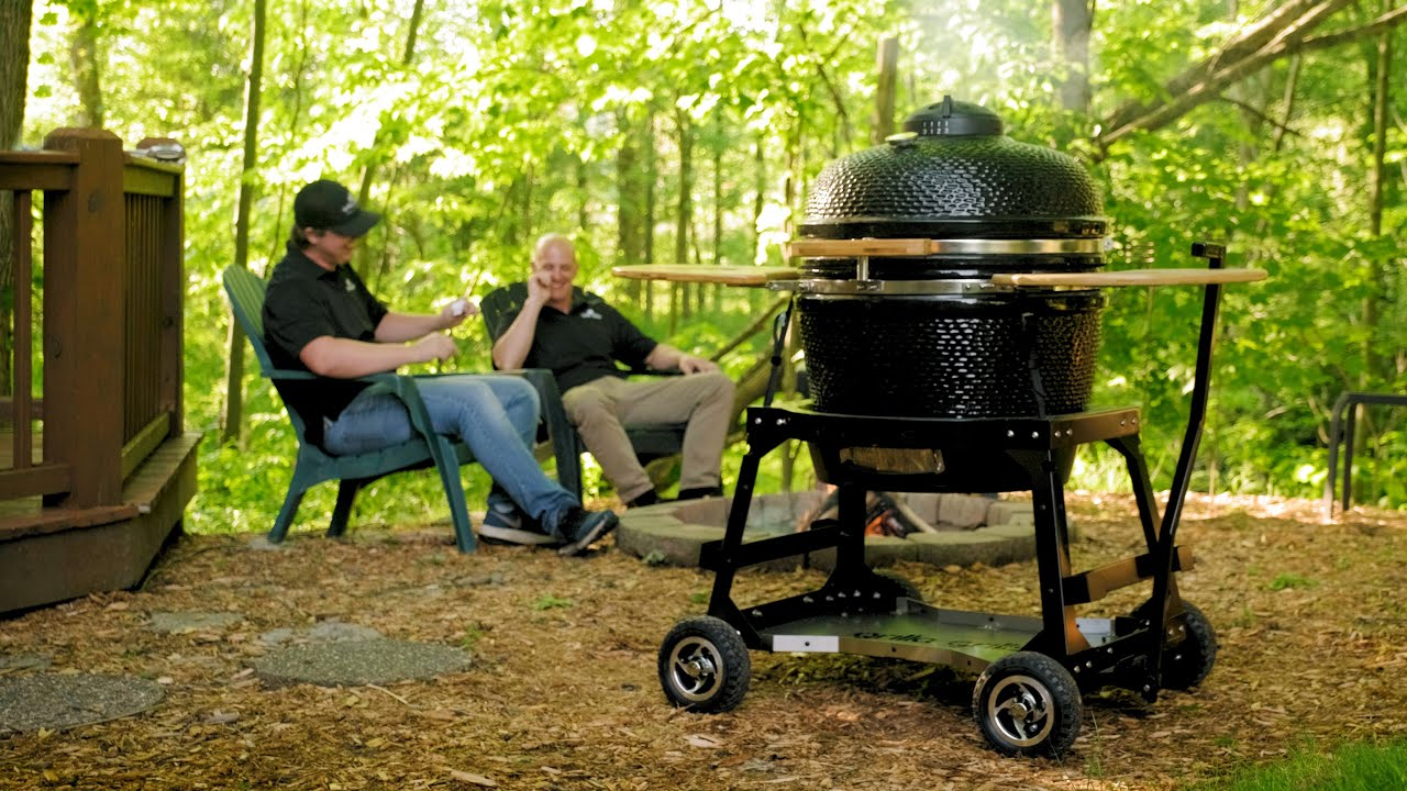 Quick Look at the FIRST All-Terrain Kamado Cart for Egg Style Smokers | Grilla Grills