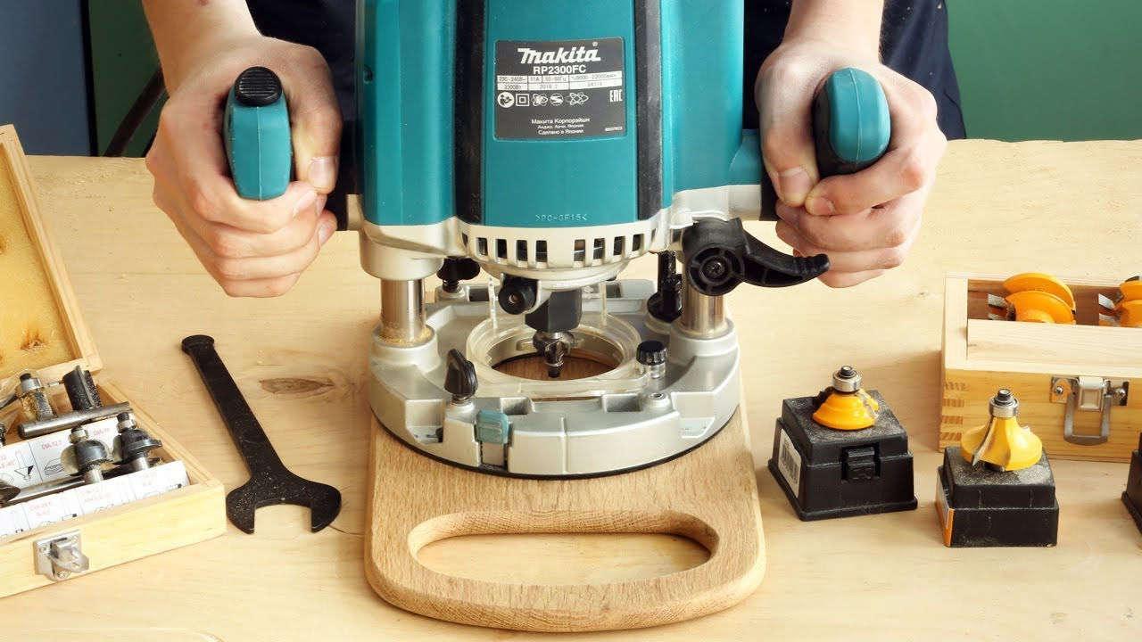 Фрезерование кромок разделочной доски с полукруглой ручкой, milling cutting board