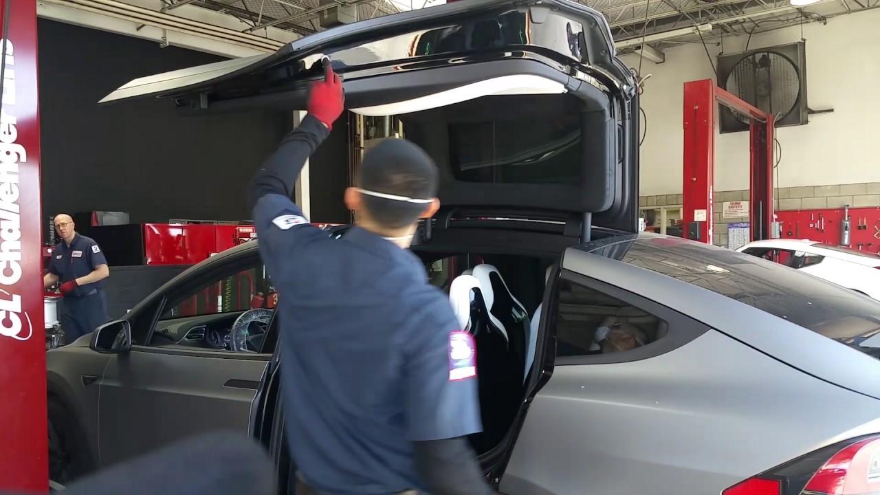 Costco Auto Center >> Tesla X At Costco Tire Center 1001 Youtube