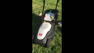 Легкая но мощная лектрогазонокосилка Tatra Garden LME 100, видео обзор.