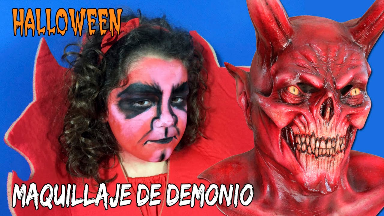 maquillaje demonio o diablo ideas para halloween youtube - Maquillaje Demonio