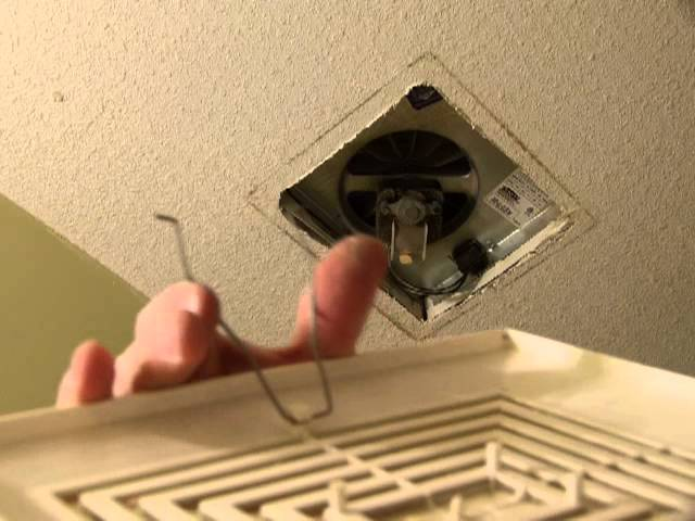 remove install a bathroom fan grille