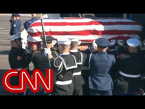 George H.W. Bushs casket boards Special Air Mission 41 for final trip to Washington