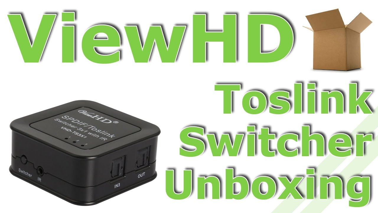 ViewHD Toslink Optical Audio Switcher Unboxing YouTube