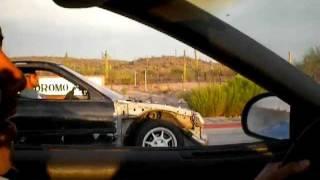 crx b16  turbo vs 3000gt vr4 twin turbo 1/4 mile sonoyta sonora