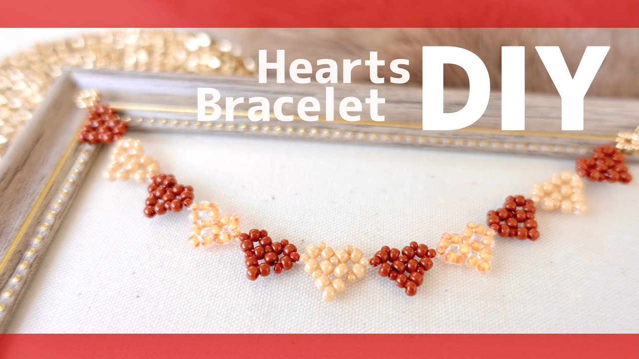 DIY💝Heart Bracelet Like sweets for Valentine's Day お菓子みたいなハートブレスレット作り方♡バレンタイン How to make tutorial