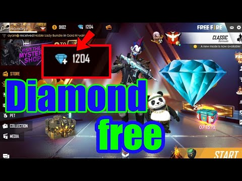 Free Diamonds in free fire How to get 1000 diamonds in free fire battleground