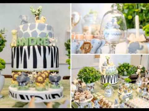 DIY safari themed baby shower decorating ideas - YouTube