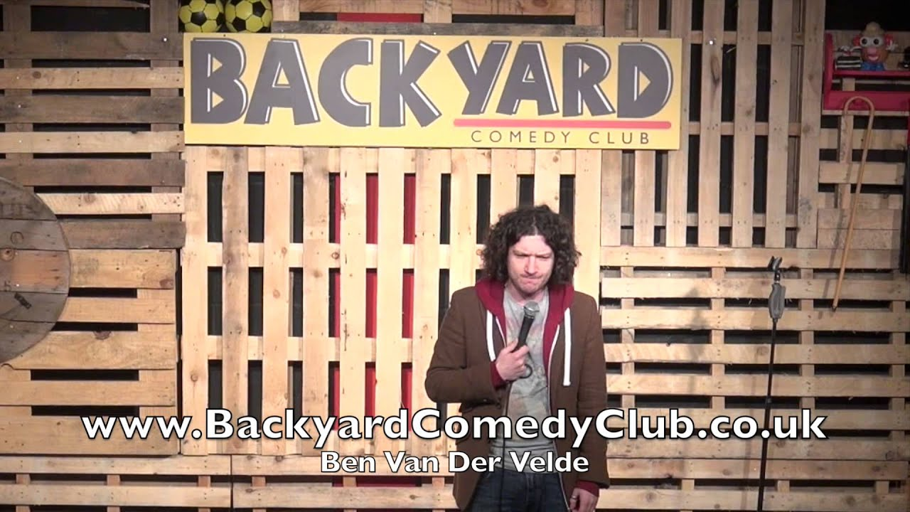ben van der velde the backyard comedy club youtube