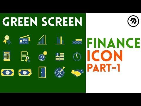 Green Screen finance Icon part-1 | mrstheboss