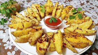 Roasted garlic potatoes recipe | Potato wedges recipe | Baked potato wedges recipe | Potato recipe